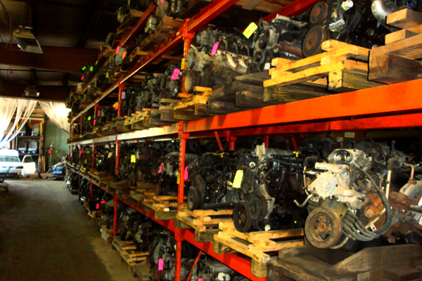 Engines removed and stored in our warehouse